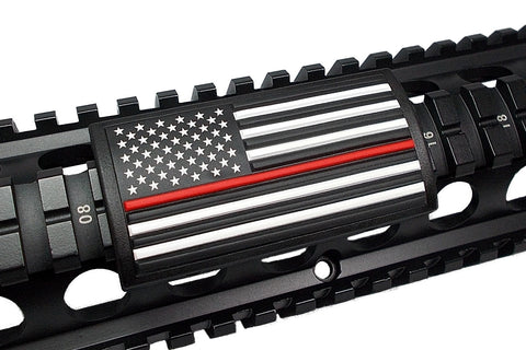 AMERICAN FLAG PVC RAIL COVER - RED LINE