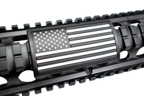 AMERICAN FLAG PVC RAIL COVER - BLACK & WHITE