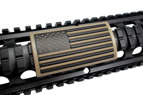 AMERICAN FLAG PVC RAIL COVER - TAN