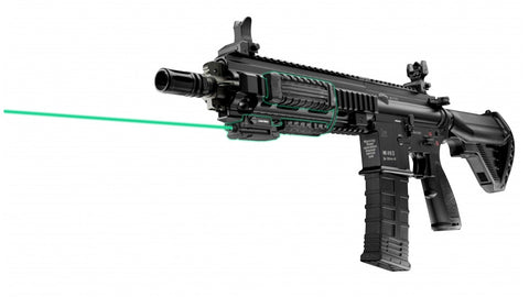 LASERMAX UNI-MAX RAIL MOUNT GREEN LASER SITE WITH RIFLE PACK