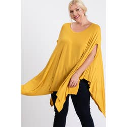 SCOOP NECK PONCHO TOP - Southern Fried Couture