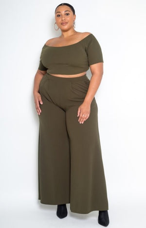 Crop Top Pant suit - Southern Fried Couture