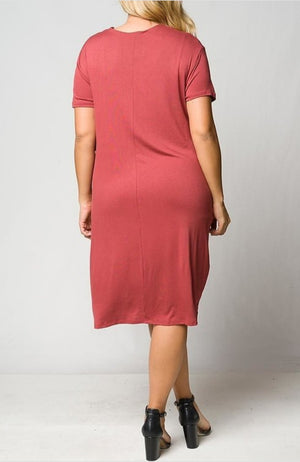 Marsala T-Shirt Dress - Southern Fried Couture