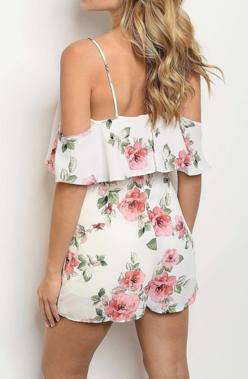 Floral Romper - Southern Fried Couture