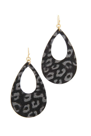 Animal Print Teardrop Shape Earring - Southern Fried Couture