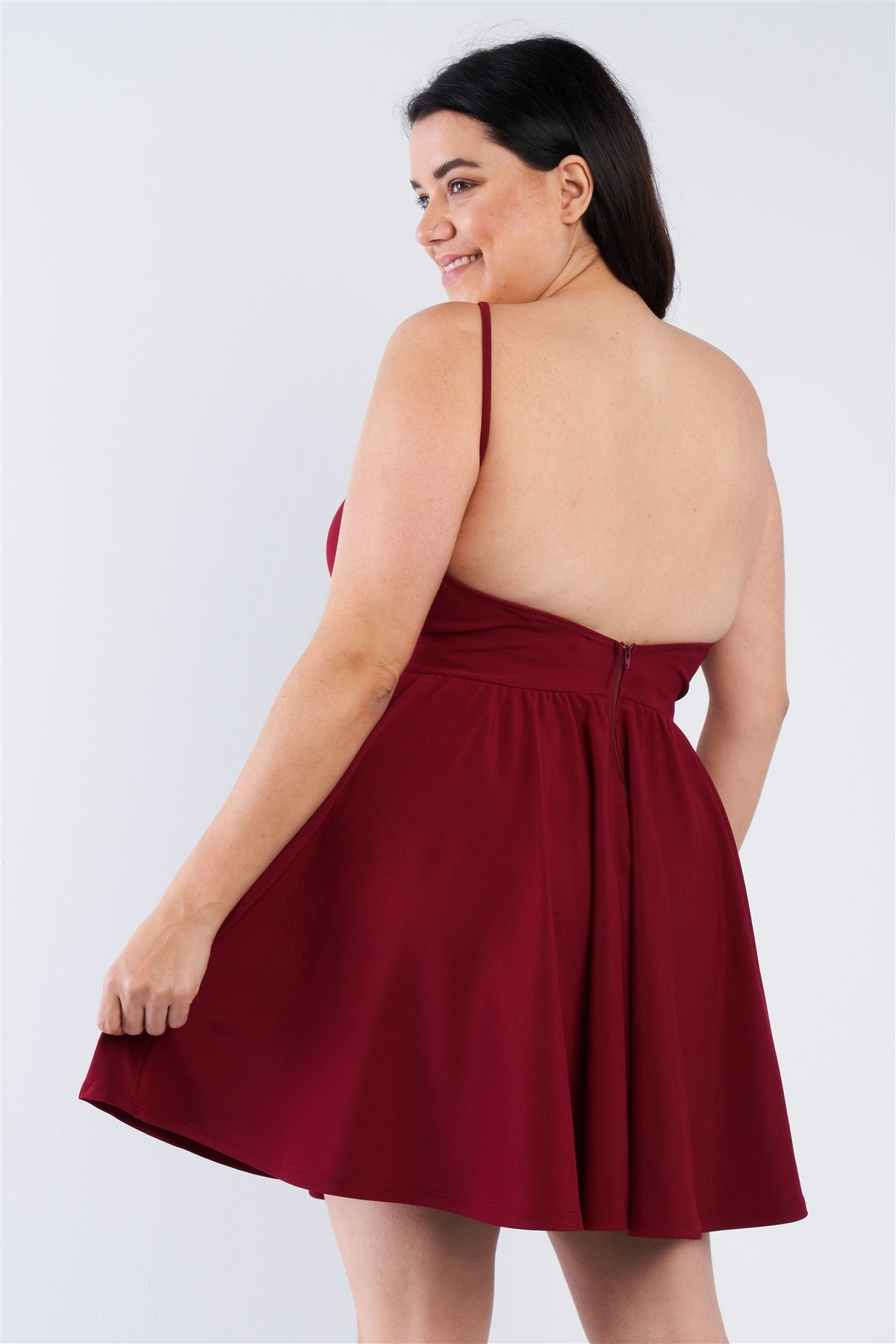 Plus Size Fit N Flare Mini Dress
