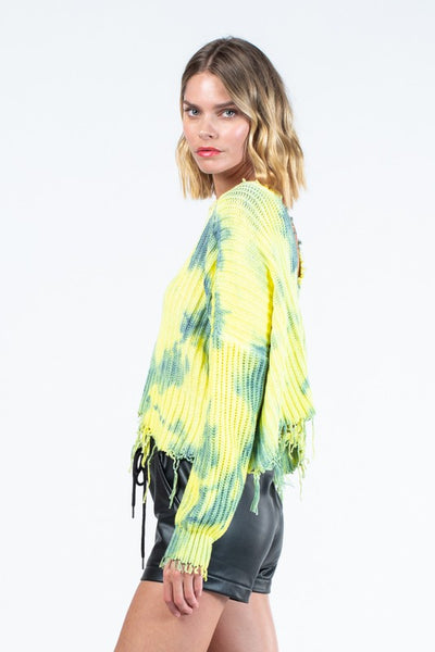 Lime Tie Dye Sweater