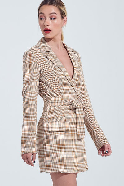 Ava Checked Blazer Dress