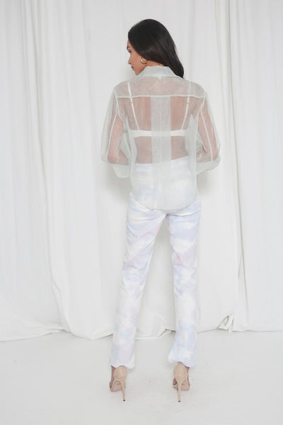 No Hiding Organza Top