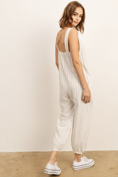 Relaxed Linen Jumpsuit