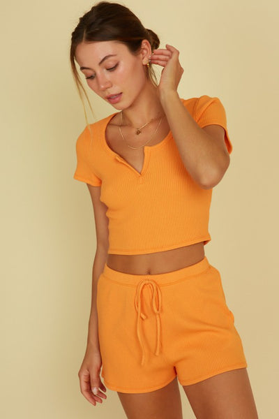 Clementine Ribbed Set