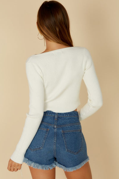 Pearl Knit Top - Off White