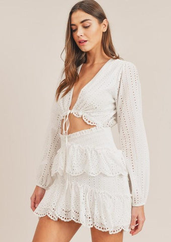 Paloma Eyelet Dress