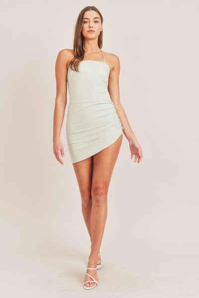 Delphine Mini Dress - Sage Green
