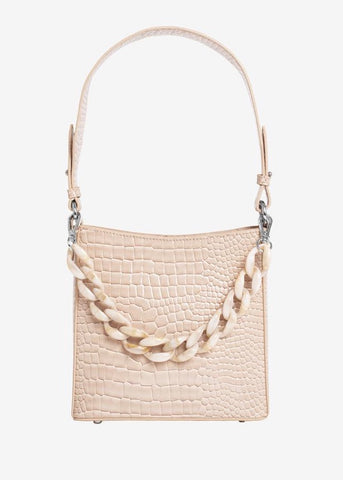 Amble Croco Small Bag - Sand Beige
