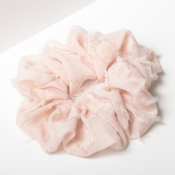 Brunch Scrunchie - Frayed Blush
