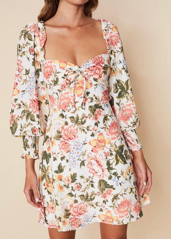 Arianne Mini Dress - Teatro Floral