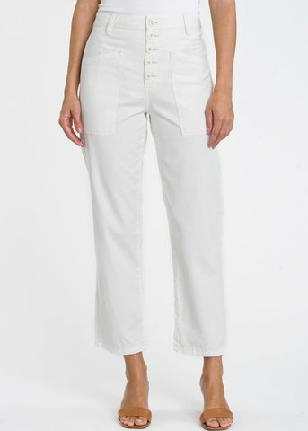 Tammy High Rise Trouser - Alabaster