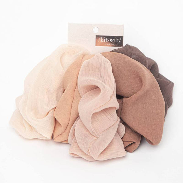 Crepe Scrunchies 5 Pack
