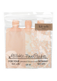 Refillable Travel Pouches 3pc Set - Blush