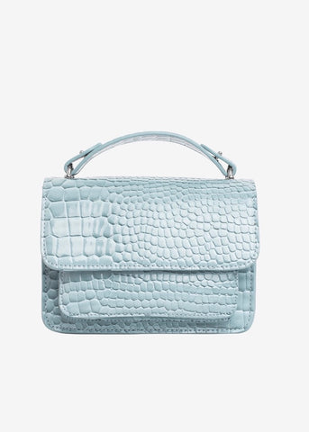 Renei Croco Bag - Baby Blue