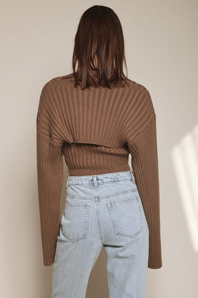 Fireside Knit Top - Brown