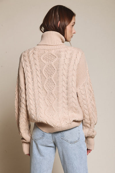 Peaches Cable Sweater