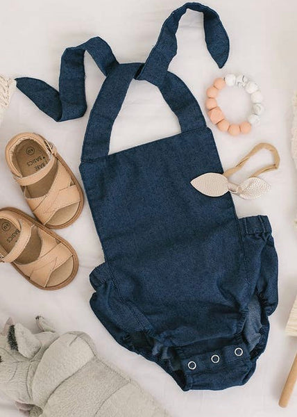 Summer Baby Romper Denim