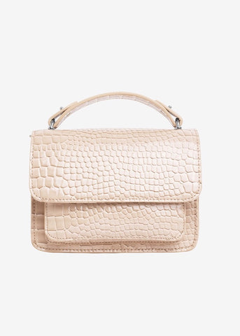 Renei Croco Bag - Beige Sand
