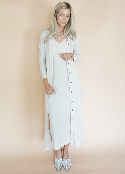 Ribbed Midi Set