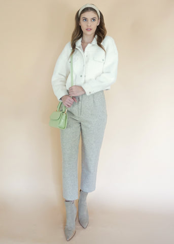 Beige Knit Trouser
