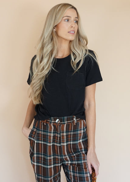 Camel Green Plaid Trouser