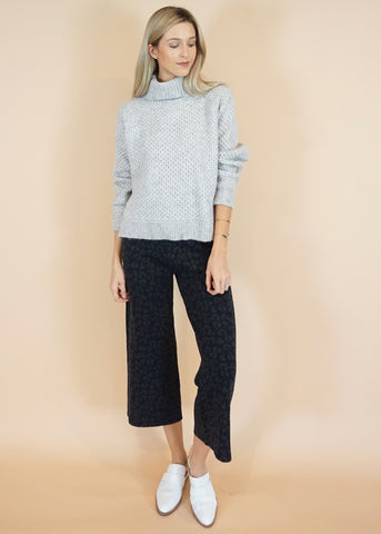 Dark Leopard Knit Pant
