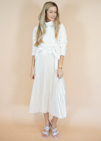 Kim Pleated Midi Skirt