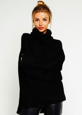 Snow Angel Sweater - Black