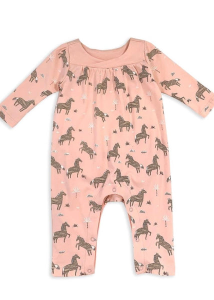 Pink Horse Coverall Romper