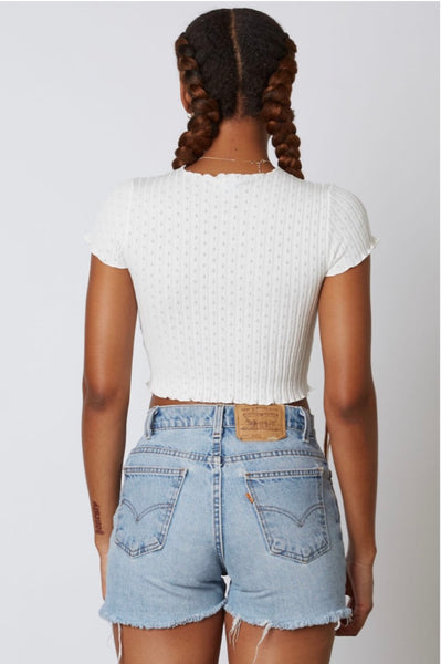 Study Break Top - White
