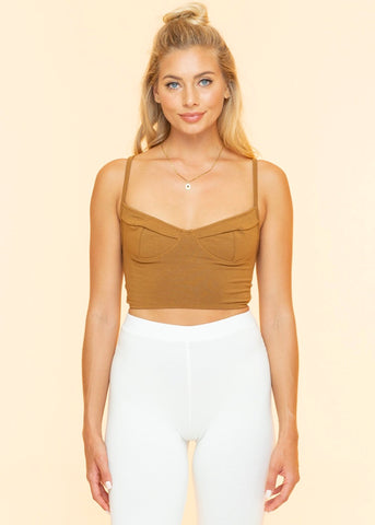 Caper Cropped Bustier