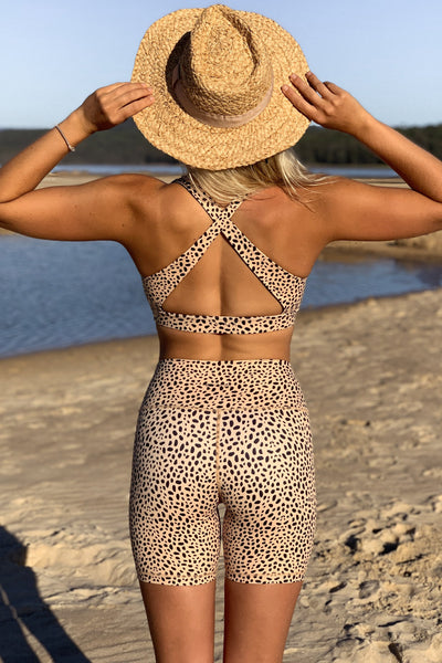 Cheetah Balian Crop Top
