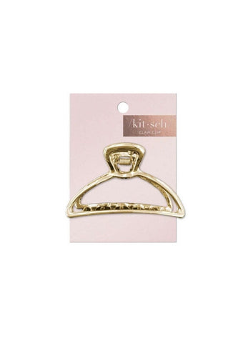 Round Gold Open Shape Claw Clip