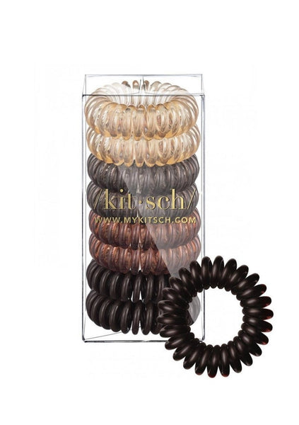 Brunette Hair Coils Pack 8