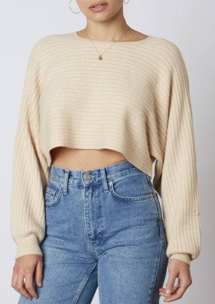 Ecru Crop Sweater