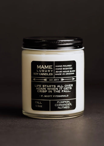 Mame Holiday 5.5 oz Soy Candle