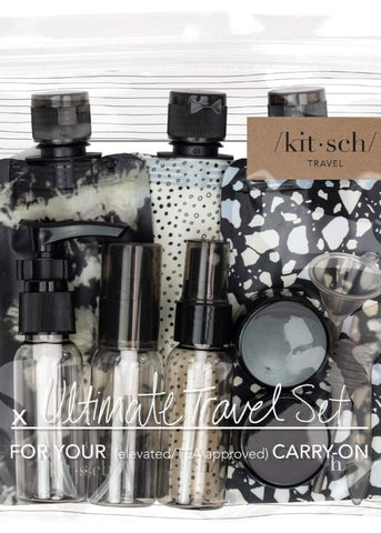 Ultimate Travel Set - Black & Ivory