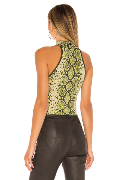 Snake High Neck Top