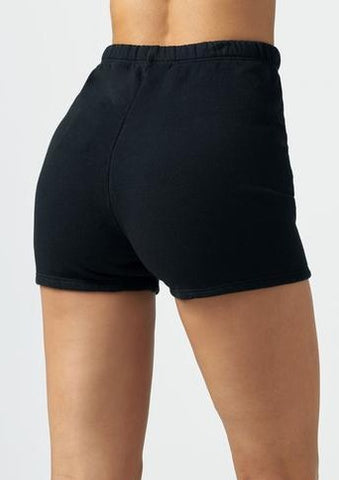 Fitted Sweat Short - Black French Terry