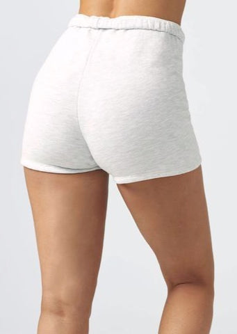 Fitted Sweat Short - Pearl Grey