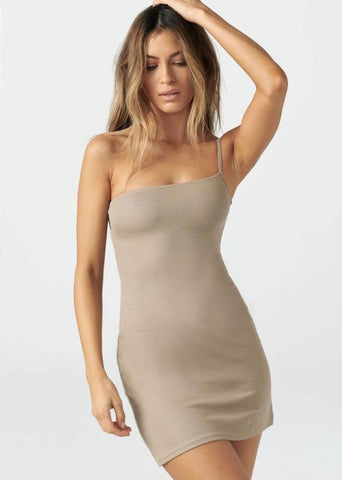 Single Strap Dress - Taupe