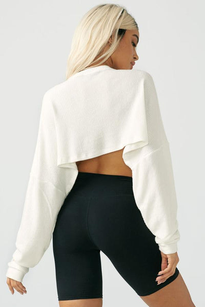Slouchy Crop Pullover