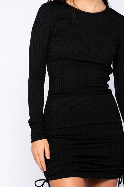 Just in Time Ribbed Dress